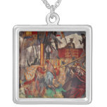 Signing of the Magna Carta, 1215 Square Pendant Necklace
