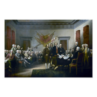 Signing The Declaration Of Independance Poster
