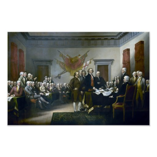 Signing The Declaration Of Independance Posters