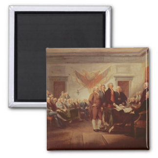 Signing the Declaration of Independence 2 Inch Square Magnet