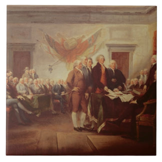 Signing the Declaration of Independence, 4th Large Square Tile