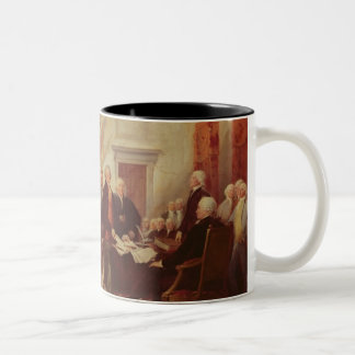 Signing the Declaration of Independence, 4th Two-Tone Coffee Mug