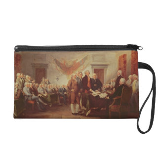 Signing the Declaration of Independence, 4th Wristlet Purse