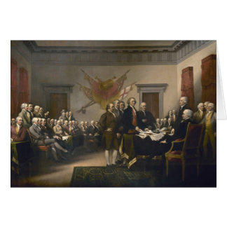 Signing the Declaration of Independence, July 4th Card