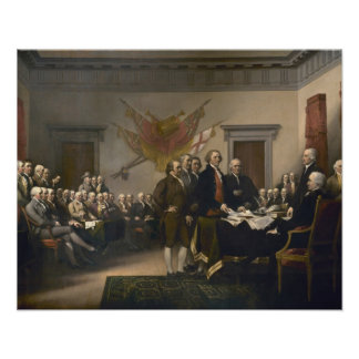 Signing the Declaration of Independence, July 4th Poster