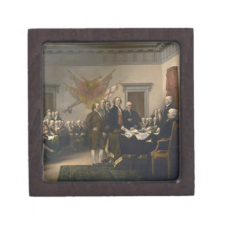Signing the Declaration of Independence, July 4th Premium Trinket Box
