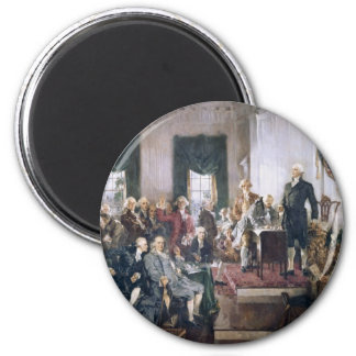 Signing the US Constitution by Christy 2 Inch Round Magnet