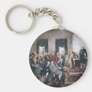 Signing the US Constitution by Christy Keychain