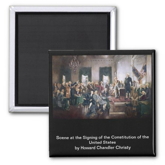 Signing the US Constitution by Christy Magnet