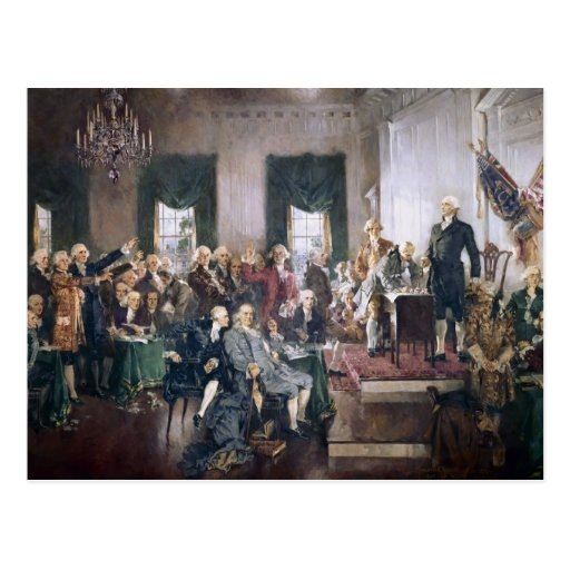 Signing the US Constitution by Christy Post Cards