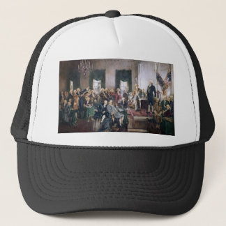 Signing the US Constitution by Christy Trucker Hat