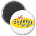 Signing Time magnets magnet