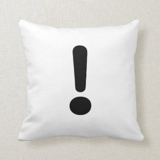 Signo de exclamación almohadas