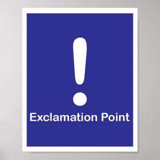 Signo de exclamación de los signos de puntuación poster