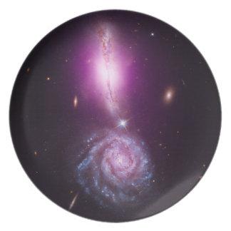 Signo de exclamación galáctico plato de cena