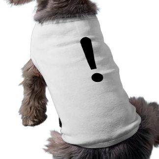Signo de exclamación camisetas mascota