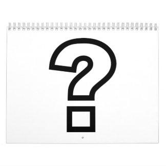 Signo de interrogación calendario