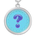Signo de interrogación de la aguamarina joyerías
