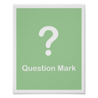 Signo de interrogación de los signos de puntuación poster