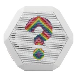 Signo de interrogación del arco iris altavoz con bluetooth
