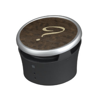 Signo de interrogación (marrón) altavoz bluetooth