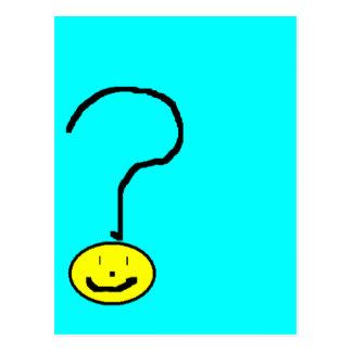 Signo de interrogación sonriente feliz Emoji, arte Tarjetas Postales