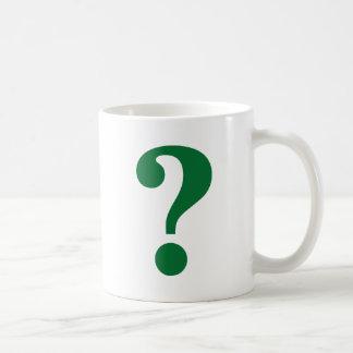 Signo de interrogación taza de café