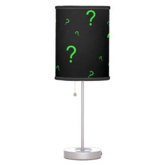 Signo de interrogación verde de neón