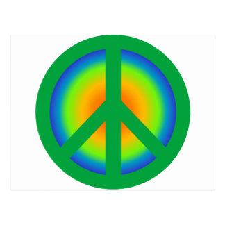Signo de la paz 2 tarjetas postales