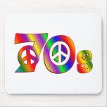 signo de la paz 70s alfombrillas de ratones