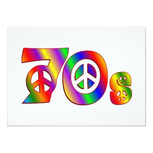 """signo de la paz 70s invitación 5"""" x 7"""""""