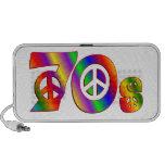 signo de la paz 70s laptop altavoces