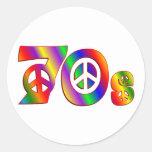 signo de la paz 70s pegatina redonda