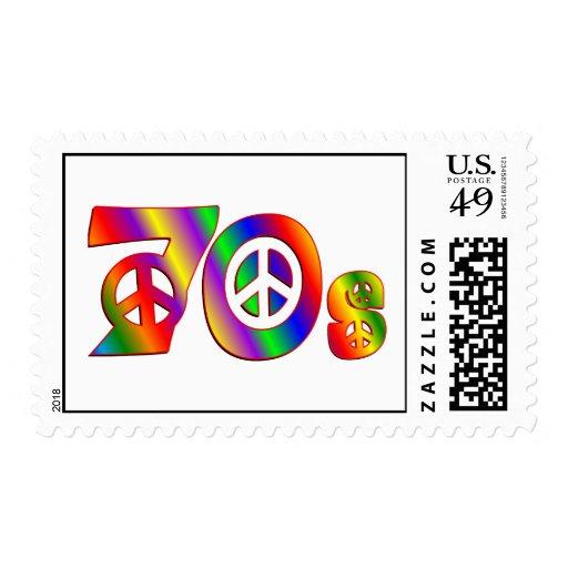 signo de la paz 70s sello