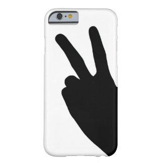 Signo de la paz a mano funda barely there iPhone 6