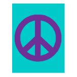 Signo de la paz adaptable postal