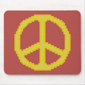 Signo de la paz amarillo Mousepad