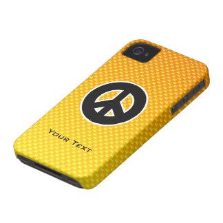 Signo de la paz amarillo-naranja Case-Mate iPhone 4 cárcasa