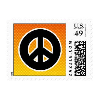 Signo de la paz amarillo-naranja sellos