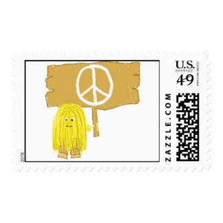 Signo de la paz amarillo sellos