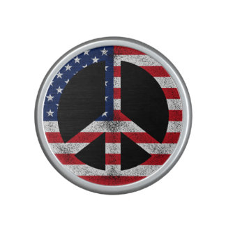 Signo de la paz americano altavoz