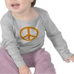 Signo de la paz anaranjado camisetas