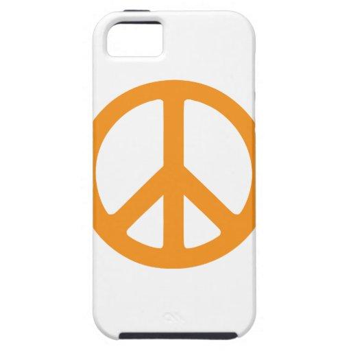 Signo de la paz anaranjado iPhone 5 carcasa