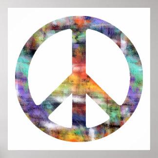 Signo de la paz artístico poster