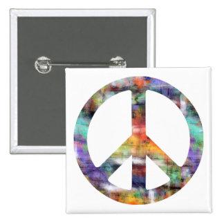 Signo de la paz artístico pins