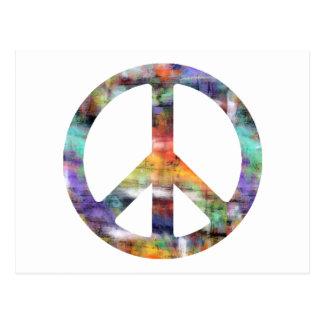 Signo de la paz artístico postales