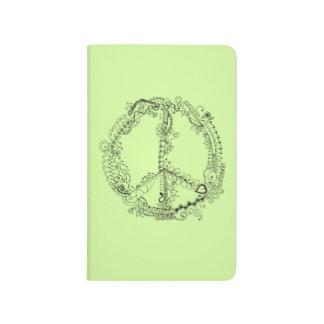 Signo de la paz artsy ilustrado mano única cuaderno