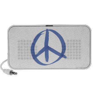 Signo de la paz azul laptop altavoz
