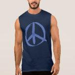Signo de la paz azul camisetas