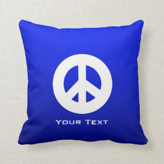Signo de la paz azul almohadas